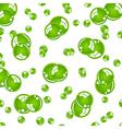 crystal green balls vector image vector image