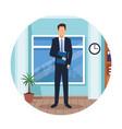 executive man cartoon vector image vector image