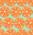 fruit seamless pattern orange slices with shadow vector image vector image