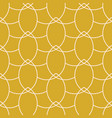 gold chains geometric seamless pattern vector image vector image