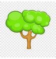 green tree icon in cartoon style vector image vector image