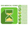 Hourglass Icon and Medical Longshadow Icon Set vector image vector image