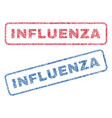 influenza textile stamps vector image vector image