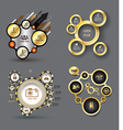 infographic elements with icons set vector image vector image