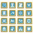knight medieval icons set sapphirine square vector image vector image