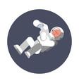 man cosmonaut fly in zero gravitation vector image vector image