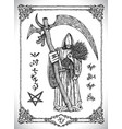 monk with scythe or grim reaper vector image vector image