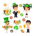 Office Workers on the Patricks Day Party vector image