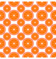 orange fruit seamless bright art pattern vector image