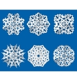 Paper snowflake origami icon Christmas theme vector image vector image