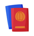 passports international document for tourism and vector image