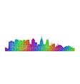 Philadelphia skyline - multicolor line art vector image vector image