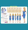 pretty female office employee character vector image vector image