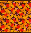 seamless pattern with acorns and autumn oak vector image vector image