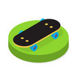 skateboard in isometric style vector image