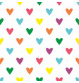 tile pattern with pastel hearts white background vector image vector image