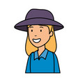 tourist woman with hat character vector image vector image