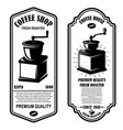 vintage coffee shop flyer templates design vector image vector image