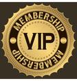 Vip membership golden label vector image vector image