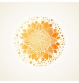 Watercolor sunny yellow lace pattern vector image vector image