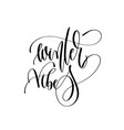 winter vibes - hand lettering inscription text to vector image
