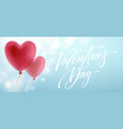 balloon hearts holiday of flying red vector image