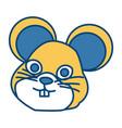 cute mouse cartoon vector image
