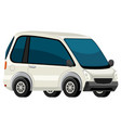 a white electric car vector image