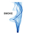 abstract blue waves background smoke vector image vector image