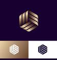 abstract logo three golden ribbons vector image vector image