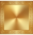 abstract metal gold frame with ornament vector image vector image