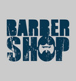 barber shop logo emblem of hairdresser for men vector image