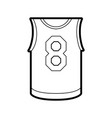basketball uniform shirt design vector image vector image