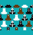 bear pattern seamless panda background grizzly vector image vector image