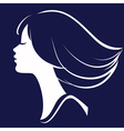 Beautiful girl face silhouette vector | Price: 1 Credit (USD $1)