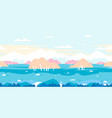 birch trees game background flat landscape vector image vector image