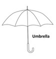 black and white image umbrella isolated on vector image