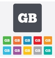 British language sign icon GB translation vector image vector image
