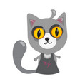 cartoon character in flat art style cat vector image vector image