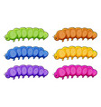 caterpillars in many colors vector image vector image