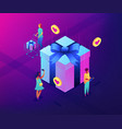 choosing gift idea isometric 3d concept vector image vector image