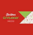 christmas giveaway long banner for social vector image vector image