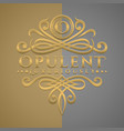 classic luxurious letter o logo with embossed vector image vector image