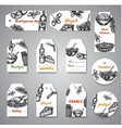 collection of hand drawn tags for thanksgiving day vector image vector image
