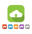 Color set of flat cloud uploading icon vector image