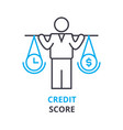 credit score concept outline icon linear sign vector image vector image