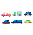 cute city transport set colorful childish vector image vector image