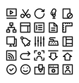 Design and Development Icons 5 vector image vector image