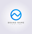 design logo icon the letter n is combined with a vector image vector image