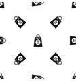 eco food bag pattern seamless black vector image vector image